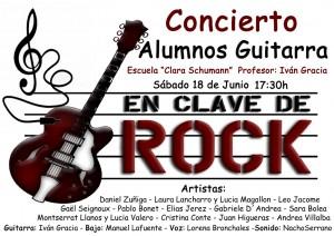 Cartel concierto rock